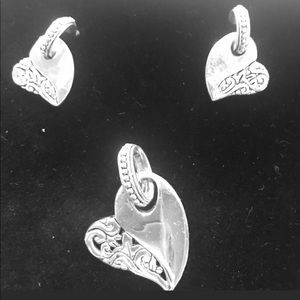 Brighton Heart Earrings & Pendant
